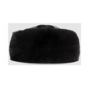 Gucci Fur & Leather Hat